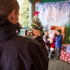 Santa provided a great Christmas card photo op