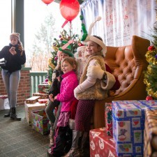 Kids couldn't wait to tell Santa what was on their Christmas list!