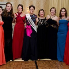 2015 Rose candidates, Colleen Gallagher, Aisling Travers, Mairead Comaskey, Savannah Conneen, Shannon Hedden, Shaylynn McNally, and Katherine Fitzsimmons with Maria Walsh, 2014 International Rose of Tralee