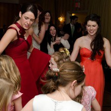 Mairead Comaskey dancing with Rose Petals and Rose Buds