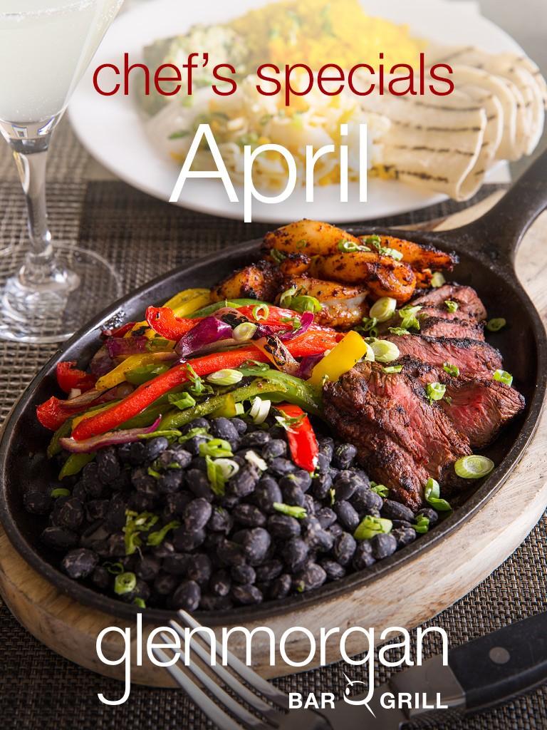 Chef's Specials for April at Glenmorgan