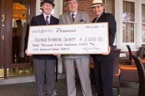 Radnor Historical Society Check Presentation By Paramour And The Wayne Hotel