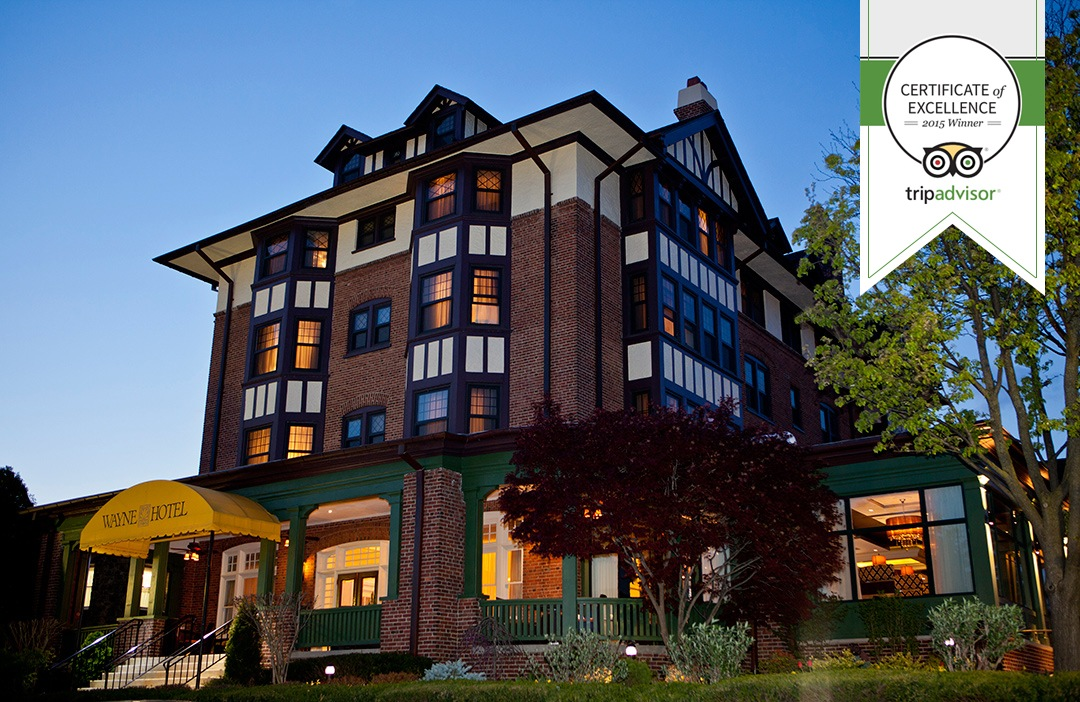 TripAdvisor Certificate of Excellence 2015, Wayne Hotel
