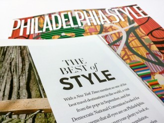 Philadelphia Style Magazine's Best of Style Issue