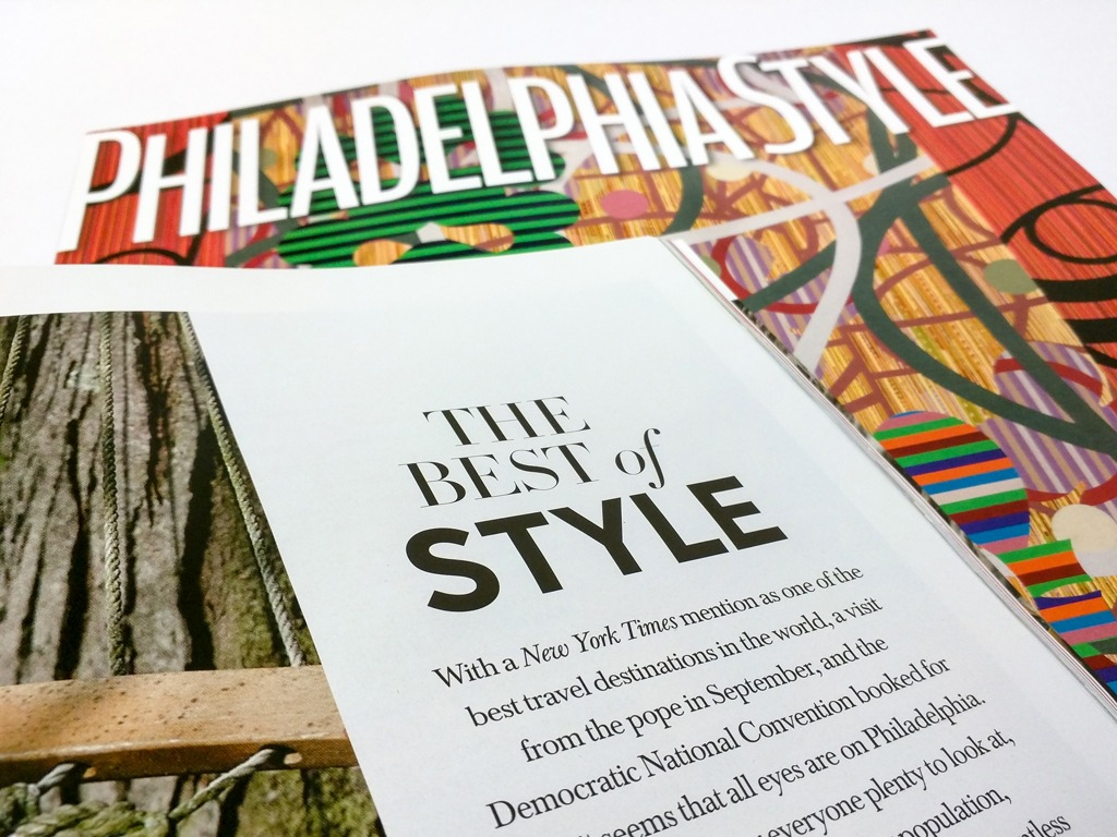 Philadelphia Style Magazine's Best of Style 2015
