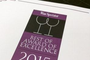 Wine Spectator Award 2015