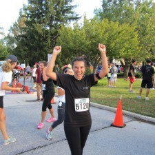 Finishing strong is team member, Hannah Hugel