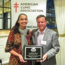 Anita Sayers of The Radnor Hotel and Michael Carr, Philadelphia Leadership Board Member for the American Lung Association