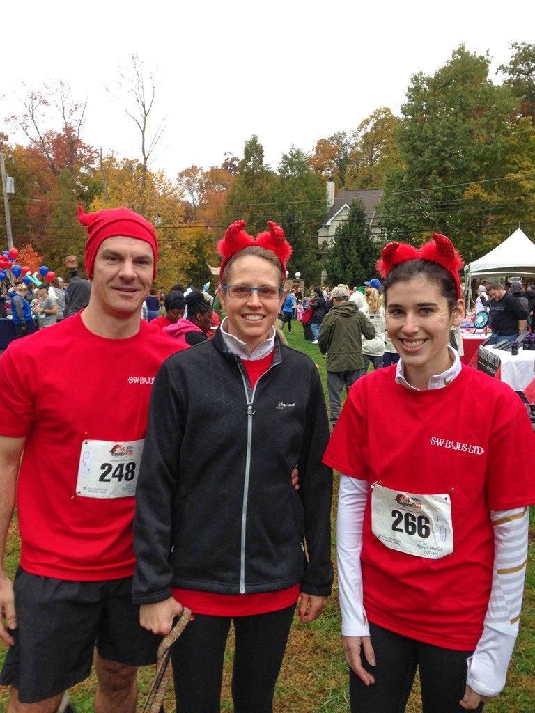 The Radnor Red Racers at the 38th Annual Penn Medicine Radnor Run