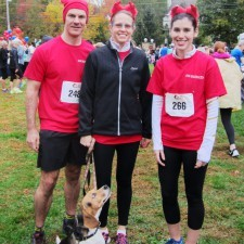 Radnor Red Racers, Alex and Kimberly Neeb with Toby, and Madeline Ostrander