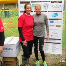 Anita Sayers of The Radnor with Cecily Tynan, 6ABC Action News Meteorologist and Radnor Run Celebrity Chair
