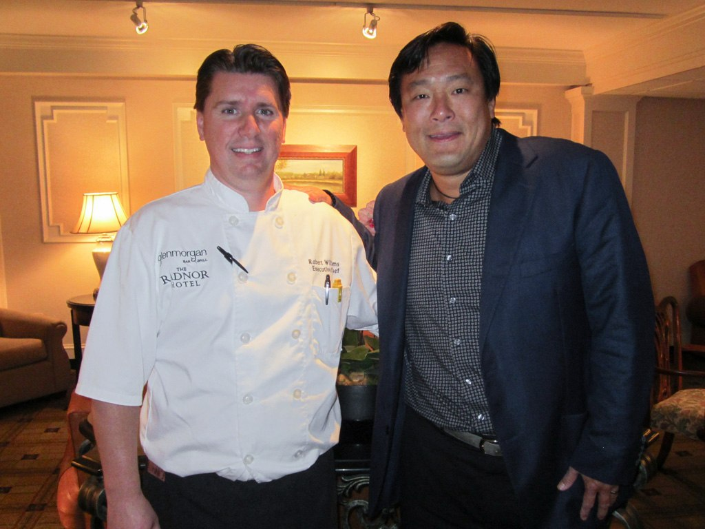 Robert Williams, Executive Chef of The Radnor and Glenmorgan, with Ming Tsai, Celebrity Chef and Restaurateur