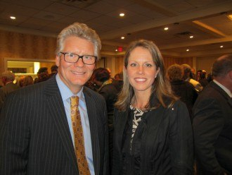 Rob Wonderling, President and CEO of the Greater Philadelphia Chamber of Commerce, and Kimberly Neeb of The Radnor Hotel