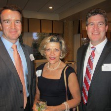 Kevin Broadhurst of Comcast, Marianne Martelli of the Chester County Chamber of Commerce, and Dan Broadhurst