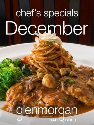 Chef's Specials for December at Glenmorgan