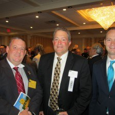 Dan Truitt, PA Representative, Steve Targert, President of Aqua, and David Kralle, Government Affairs Specialist at Aqua