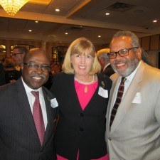 Kenneth Woodson of the Philadelphia Zoo, Patty Martin of Saint Joseph's University, and Wadell Ridley, Jr. of Saint Joseph's University