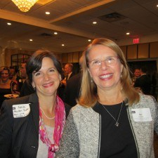 Xenia Hewka Scott of the Main Line Chamber of Commerce and Gail Landis of the Greater Reading Chamber of Commerce
