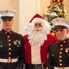 Santa welcomed the Marine Toys for Tots Foundation to the Wayne Hotel