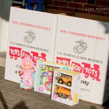 In addition to visiting with Santa on the Veranda, families gave back to Toys for Tots
