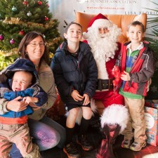 Kids couldn't wait to tell Santa what was on their Christmas list... and pose for photos!