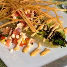Charred Romaine Heart Salad