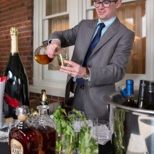 Steven Gullo (Paramour Sommelier & Beverage Director) pours Mint Juleps for guests