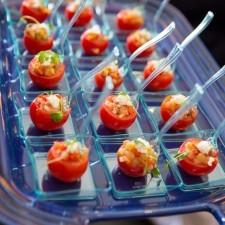 Ratatouille Stuffed Cherry Tomatoes & Goat Cheese