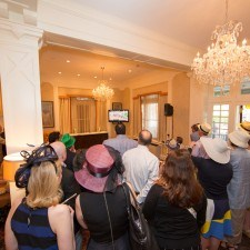 Guests gather in the Lobby Lounge to watch the fastest 2 minutes in sports