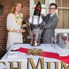 Gala Fernandez (Pernod Ricard), Steven Gullo (Paramour Sommelier & Beverage Director)
