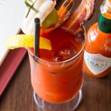 Build your own Bloody Mary at Brunch