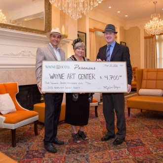 Wayne Art Center Check Presentation by Paramour and the Wayne Hotel