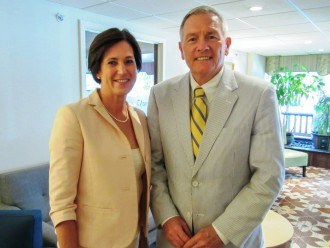 Congresswoman Mimi Walters of California's 45th District with Louis Prevost, Senior Vice President & General Manager of The Radnor Hotel