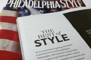 Philadelphia Style Magazine's Best of Style 2016