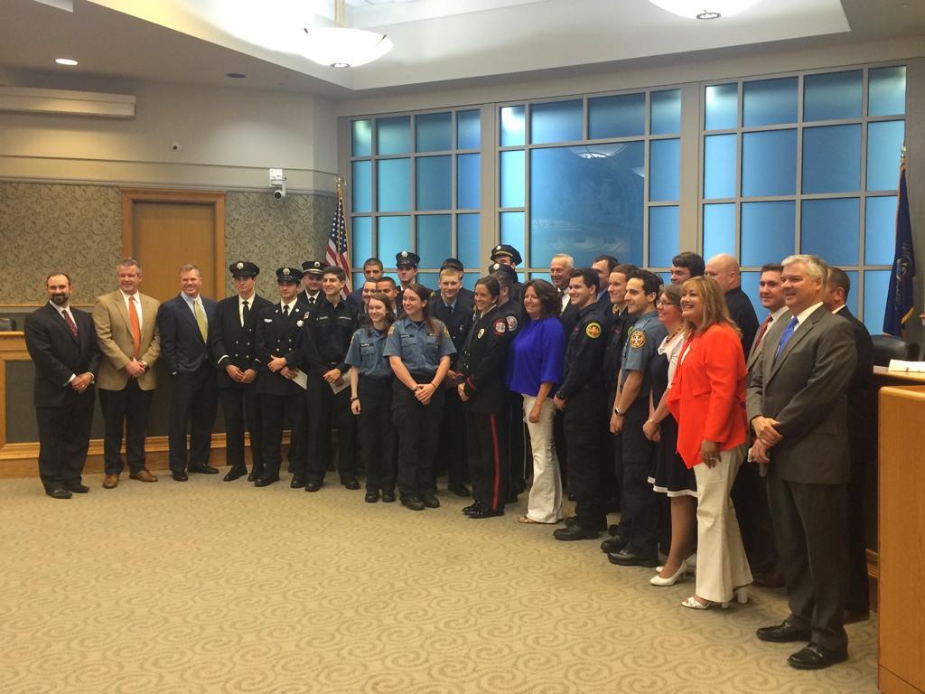 The Main Line Chamber Foundation Volunteer Firefighter/EMT Scholarship Awards 2016