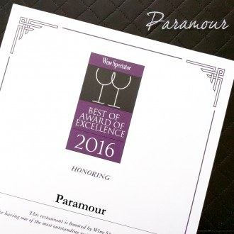 Wine Spectator Best of Award of Excellence 2016