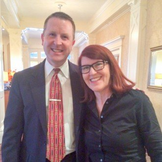 General Manager David Brennan and Award-Winning Actress Kate Flannery