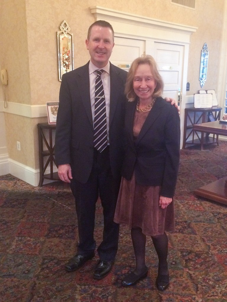 Doris Kearns Goodwin, world-renowned presidential historian, public speaker, and Pulitzer Prize-winning author, with David Brennan, General Manager of the Wayne Hotel