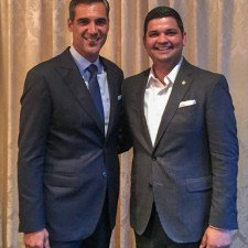 Jay Wright, Villanova Men's Basketball Head Coach, and Sachin Siwach, Director of Food & Beverage at The Radnor Hotel & Glenmorgan Bar & Grill