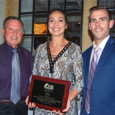 Mike Carr (American Lung Association), Anita Sayers (The Radnor Hotel), and Dan Green (American Lung Association)