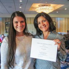 The Grand Prize Romantic Getaway Winner at the Main Line Bridal Event