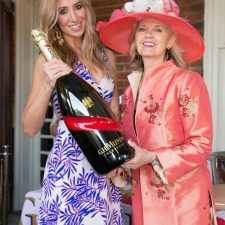 Kristy Sevag, Kathy Bajus and a big bottle of G. H. Mumm Champagne!