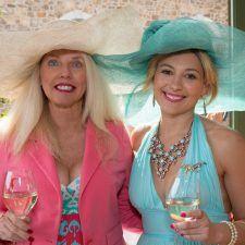 Derby guests Theresa Farrell, Micaela Carrasco