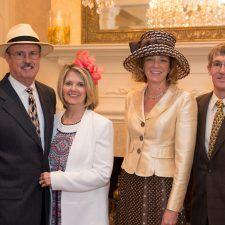 Steve & Kathy Bajus (Wayne Hotel and Paramour Owner), Meg (Director of Radnor Educational Foundation) & Steve Haist