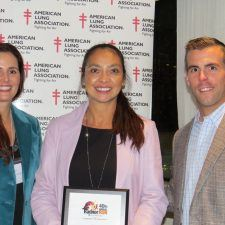 Dawn Mahan, Philadelphia Leadership Board for the American Lung Association, Anita Sayers of The Radnor Hotel, and Dan Green, Vice President of Development for the American Lung Association