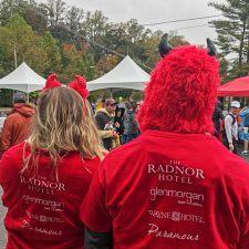 The Radnor Red Racers at the 40th Annual Penn Medicine Radnor Run