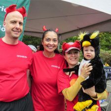 Stewart Brown, Anita Sayers, Anna Guseva and Danny Penguin of The Radnor Red Racers
