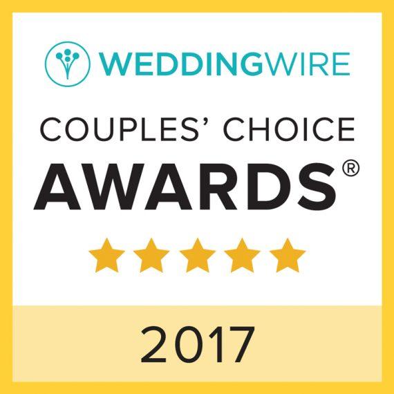 2017 WeddingWire Couples' Choice Awards® Winner