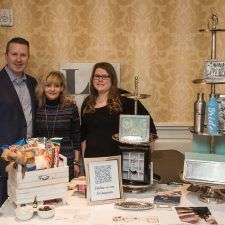 David Brennan, General Manager of the Wayne Hotel, with the ladies of bellaDONNA Gifts at the Main Line Bridal Event
