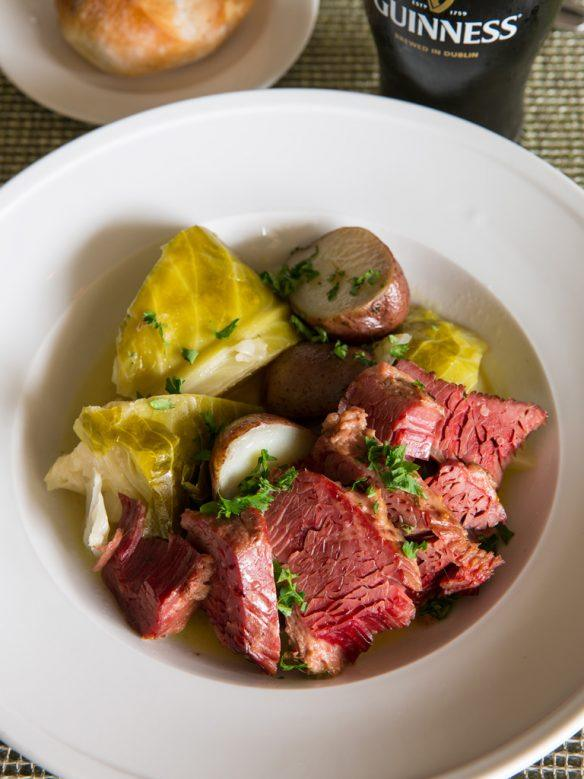 Corned Beef & Cabbage with roasted red potatoes